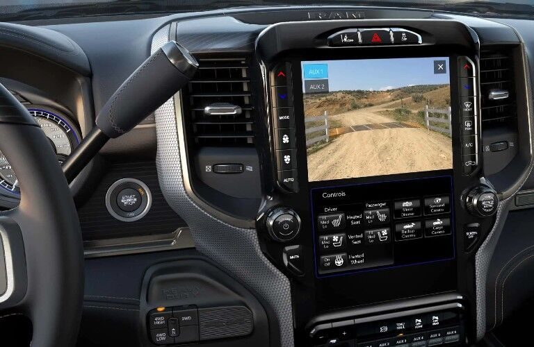 2021 RAM 2500 optional 12-inch touchscreen