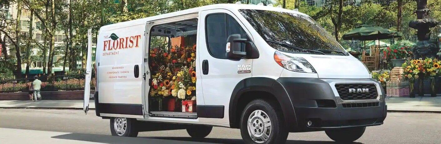 2021 RAM ProMaster Cargo Van delivering floral arrangements