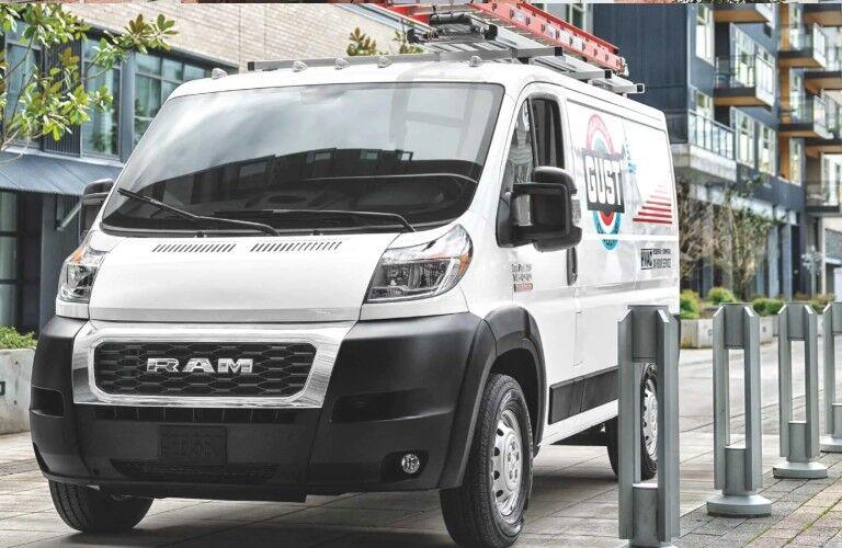 2021 RAM ProMaster Cargo Van on city street