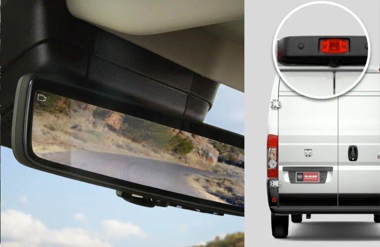 2021 RAM ProMaster Cargo Van digital rearview mirror