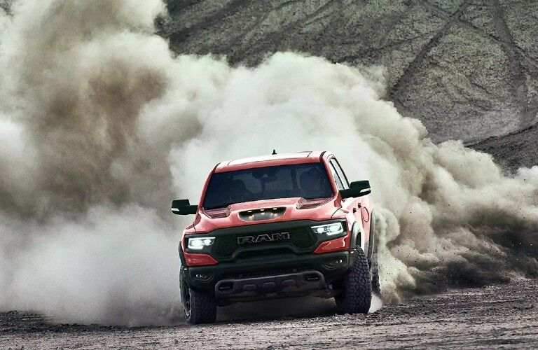 2021 Ram 1500 TRX kicking up dirt
