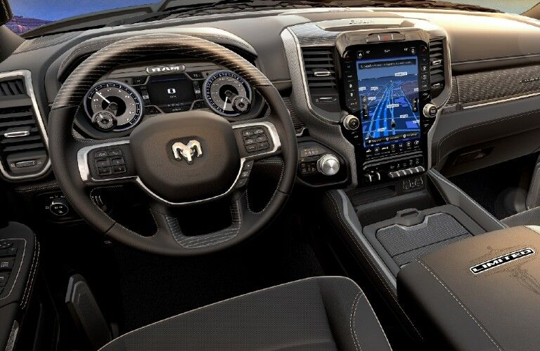 2021 Ram 1500 dashboard and steering wheel