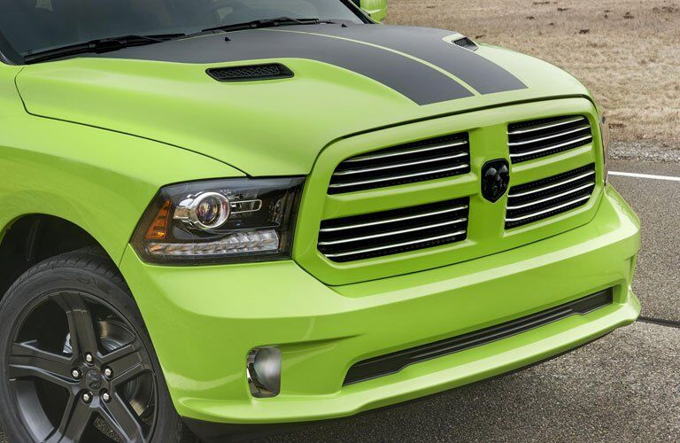 attractive front grille on a specialty Ram truck