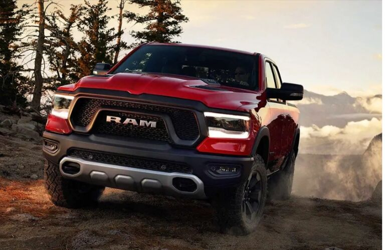 Black and red 2019 Ram 1500 Rebel