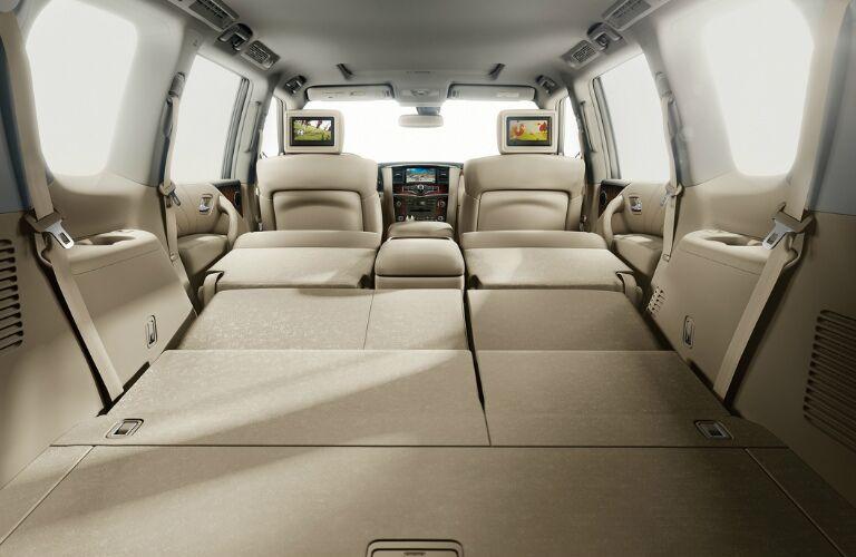 2017 Nissan Armada cargo area with seats folded down
