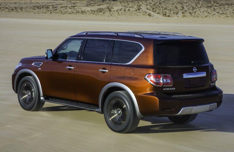 2017 Nissan Armada exterior rear side driving in desert