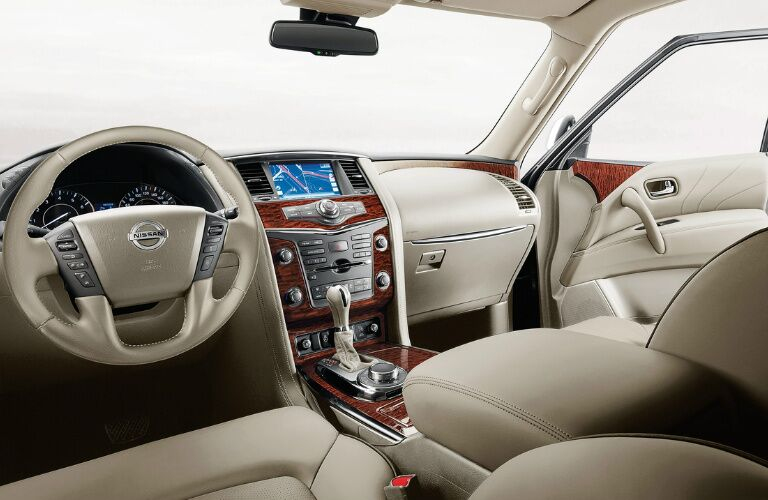 2017 Nissan Armada interior front seating area