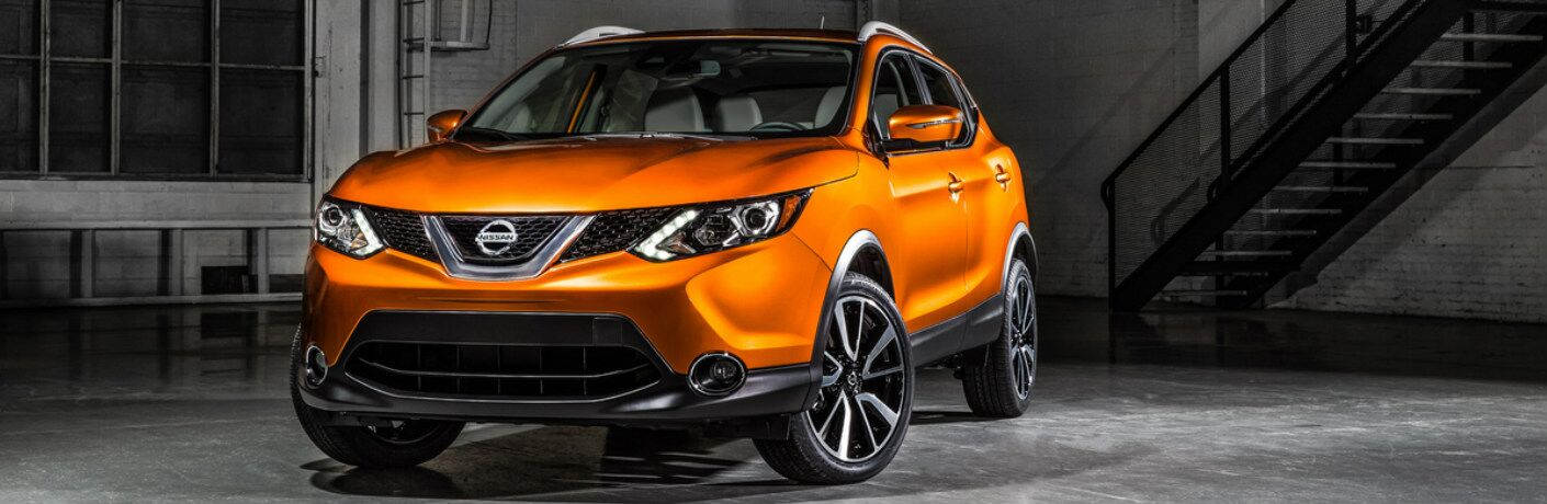 orange 2017 Nissan Rogue Sport exterior front side