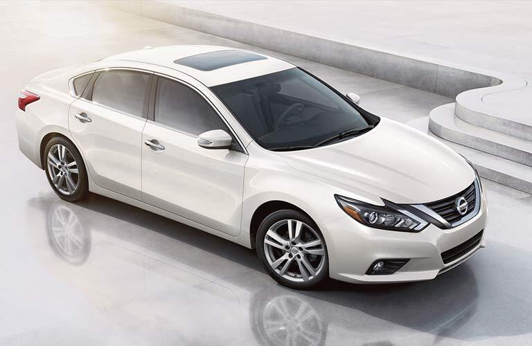 white 2017 Nissan Altima exterior front side top view