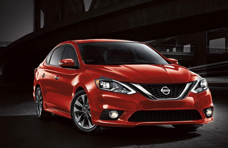 red 2017 Nissan Sentra exterior front side