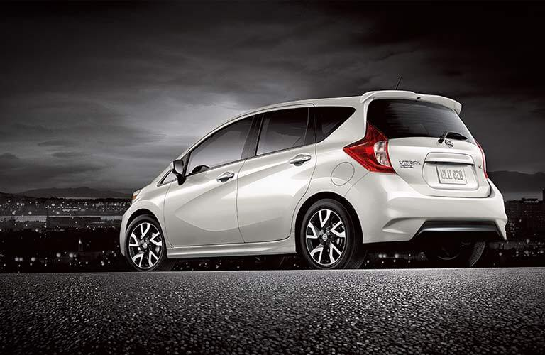 white 2017 Nissan Versa Note exterior rear side