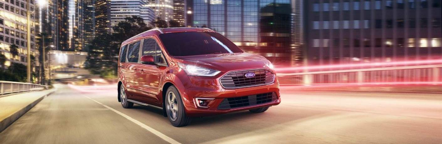 2019 Ford Transit Connect Driving Through the City