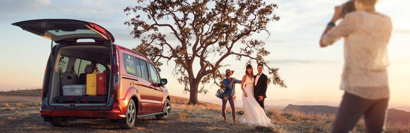 2019 Transit Connect Near a Couple Getting Married