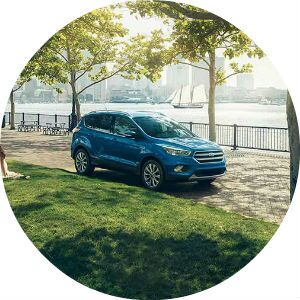 bright blue 2017 Ford Escape