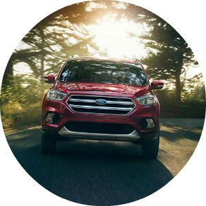 red 2017 Ford Escape front end