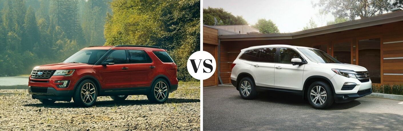 2017 Ford Explorer vs 2016 Honda Pilot