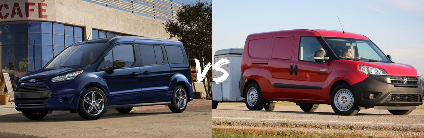 2017 Ford Transit Connect vs 2017 Ram ProMaster City