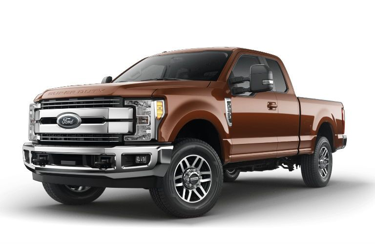 Brown 2017 Ford F-250 Super Duty Lariat model