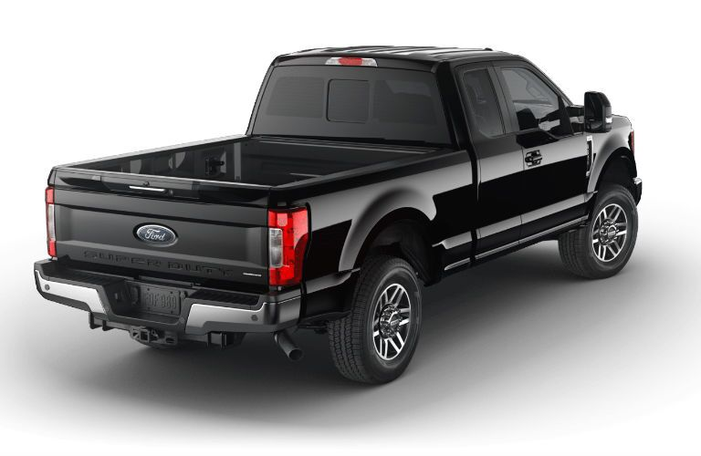 Black 2017 Ford F-250 Super Duty Lariat model