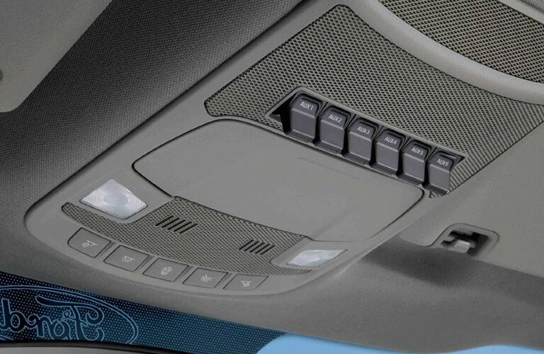 Ceiling console of 2018 Ford F-350 pickup