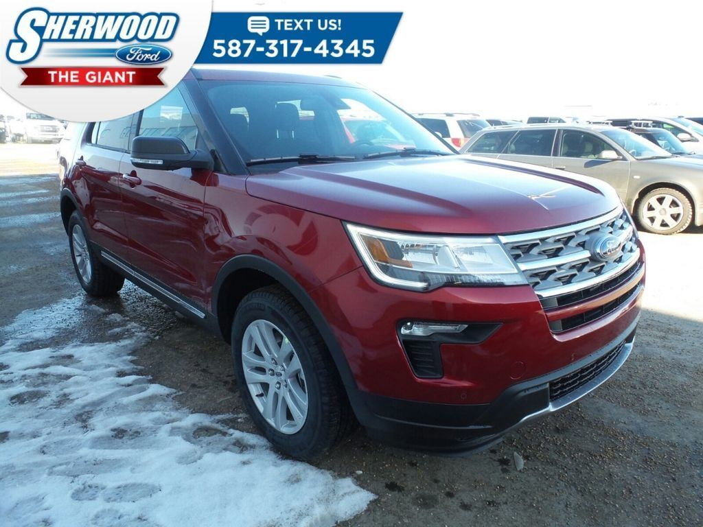 Red 2018 Ford Explorer at Sherwood Ford