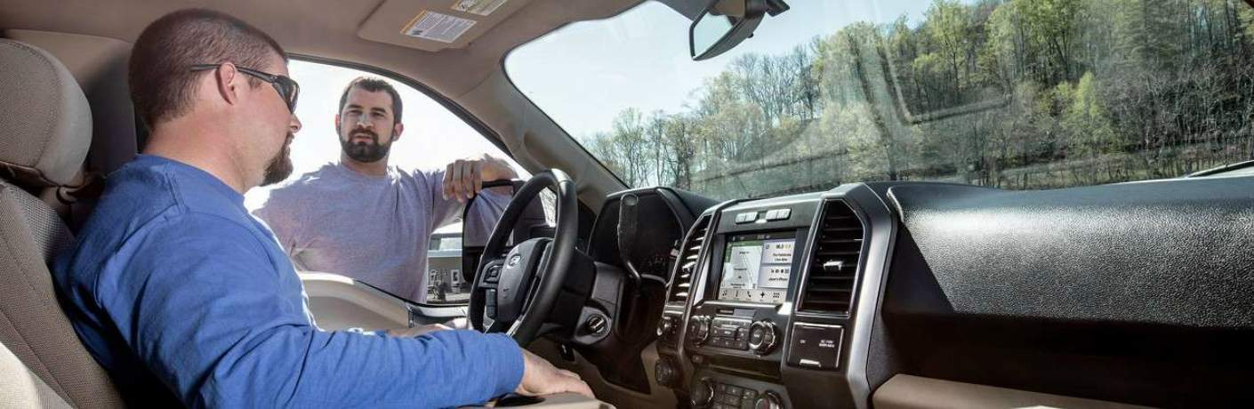 Front Seats Inside the 2018 Ford F-150