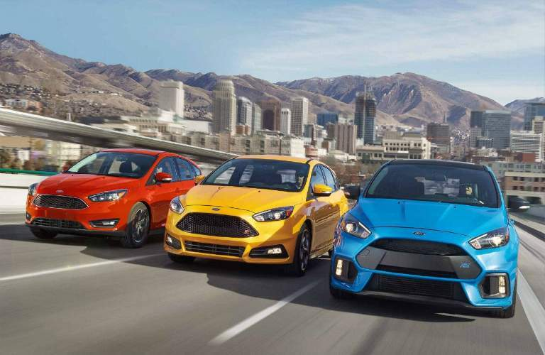 Lineup of 2018 Ford Focus Trim Levels