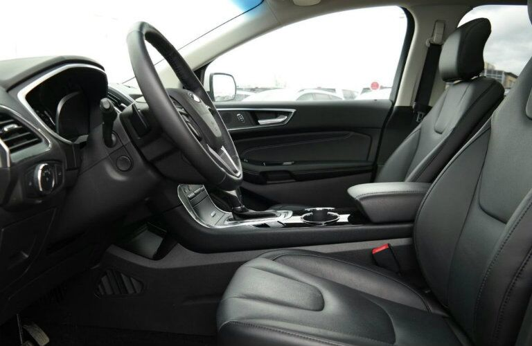 Steering wheel and front seats of 2018 Ford Edge