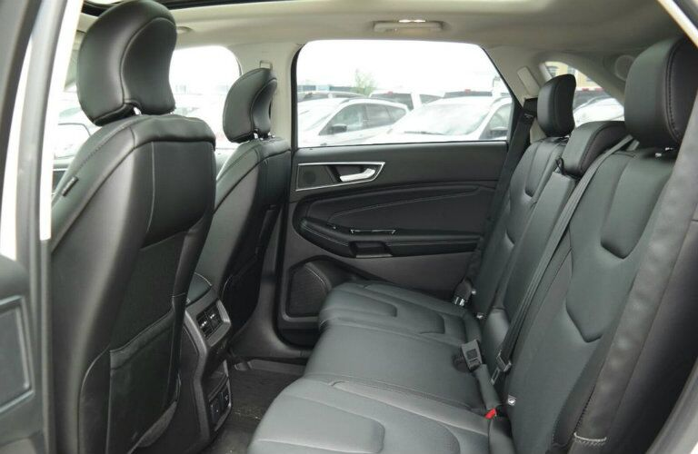 Rear seats of 2018 Ford Edge