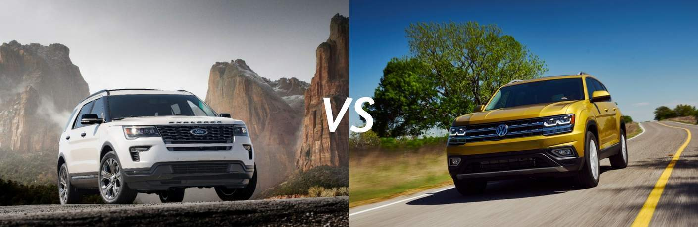 2018 Ford Explorer vs 2018 VW Atlas