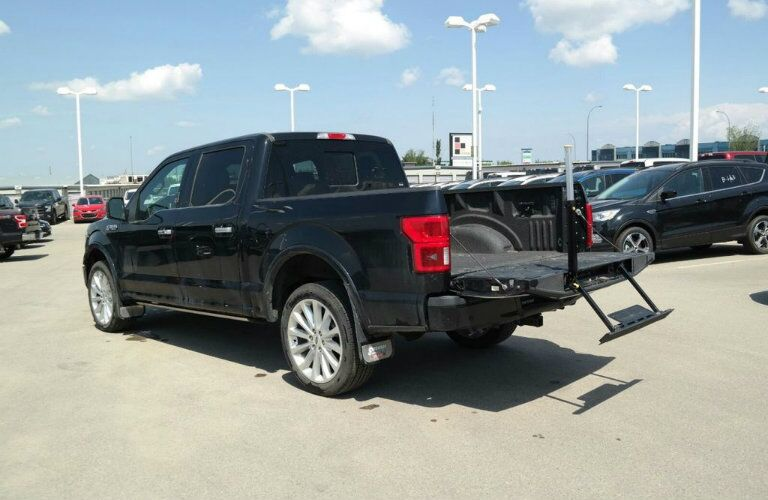 Tailgate folded down on 2018 Ford F-150 Limited