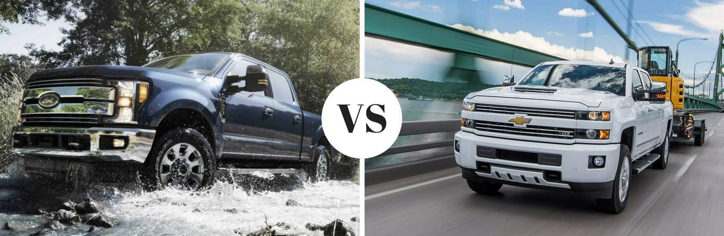 2018 Ford Super Duty vs 2018 Chevy Silverado HD