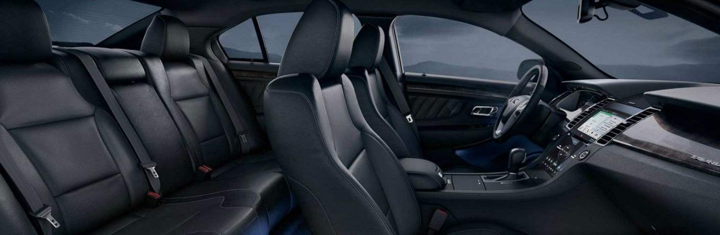 Seats with Ambient Light Inside the 2018 Ford Taurus