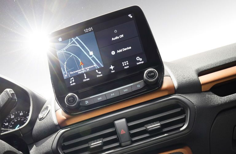 2018 Ford EcoSport touchscreen