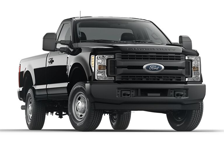 Black 2019 Ford F-350 Super Duty on white background