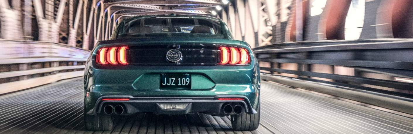 Taillights of the 2019 Ford Mustang Bullitt