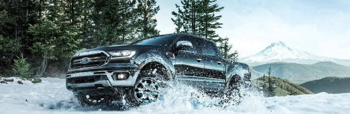 2019 Ford Ranger Driving Through the Snow