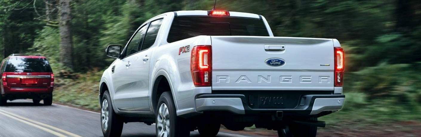 2019 Ford Ranger Following Behind Another Vehicle
