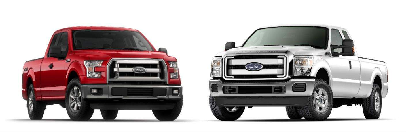 Ford F-Series SAFETY Recall - ADVANCE NOTIFICATION 2017 F-150 next to 2017 F-250