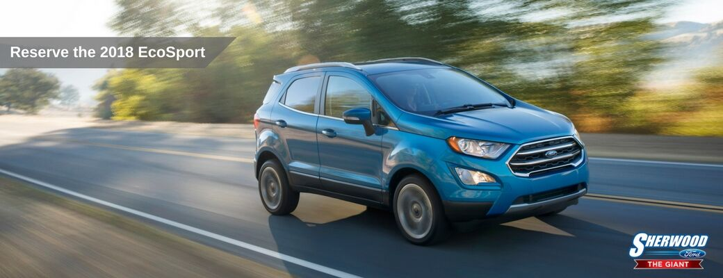 Reserve the 2018 Ford EcoSport Edmonton AB