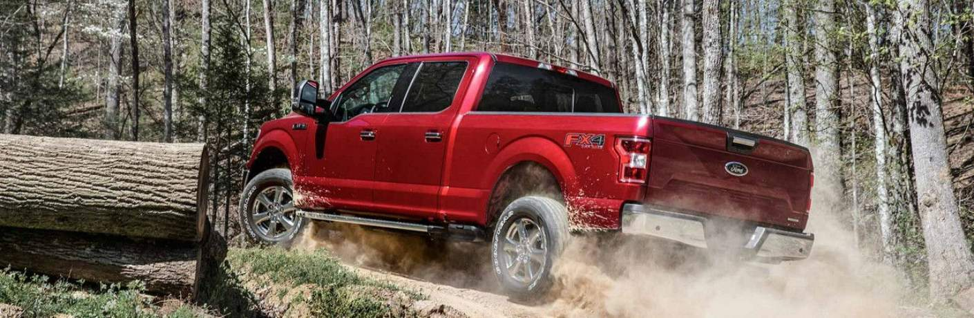 2018 F-150 XLT Driving Down a Logging Road