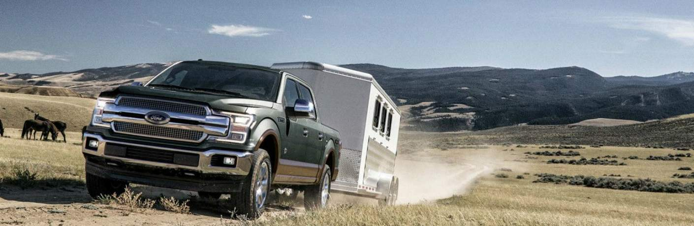 2018 Ford F-150 Towing a Large Trailer