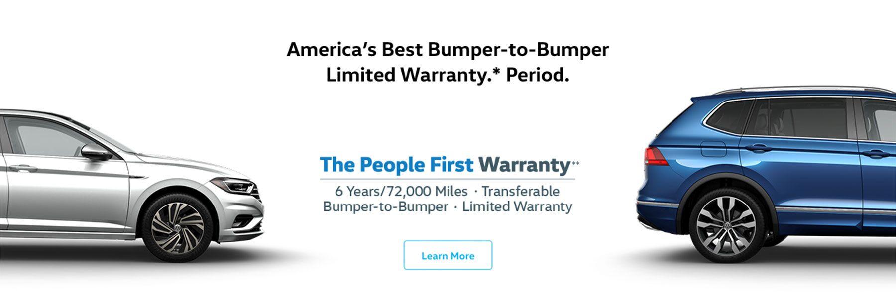 America's best bumper-to-bumper limited warranty. Period.