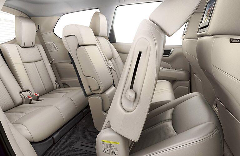 Rear seats in 2016 Nissan Pathfinder