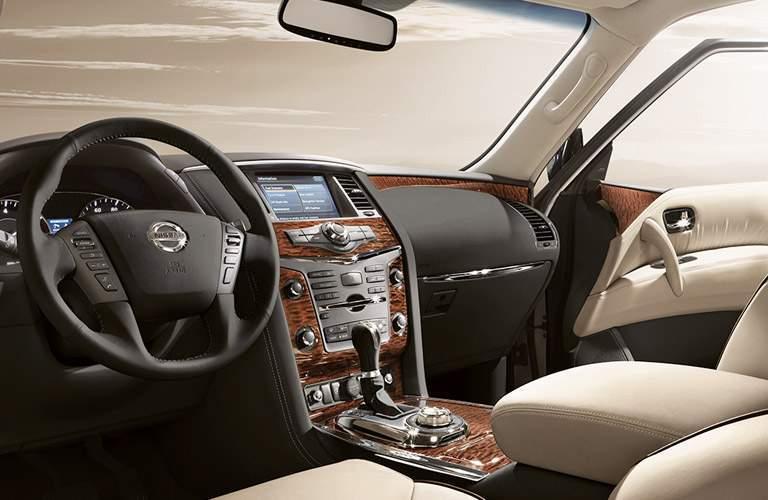 2017 Nissan Armada Front Cabin White Interior