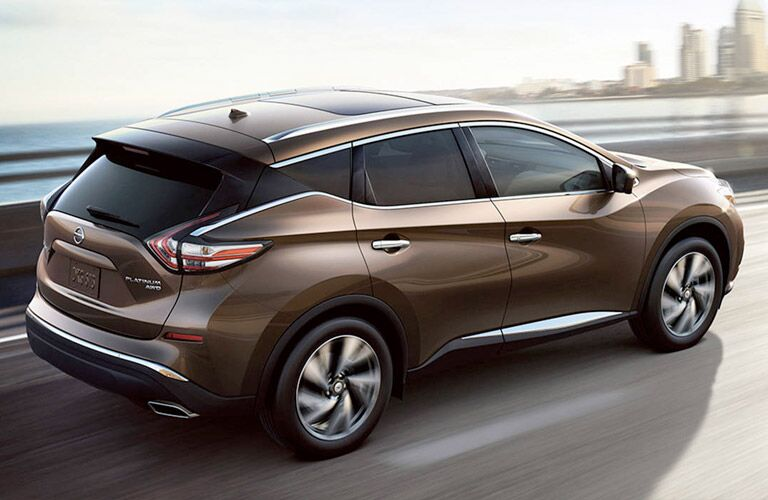 2017 Nissan Murano Rear View of Brown Exterior