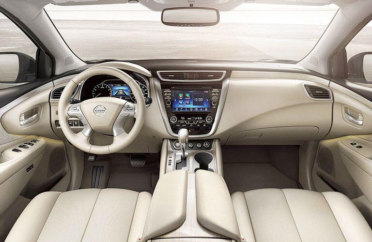 2017 Nissan Murano Front Cabin Beige interior