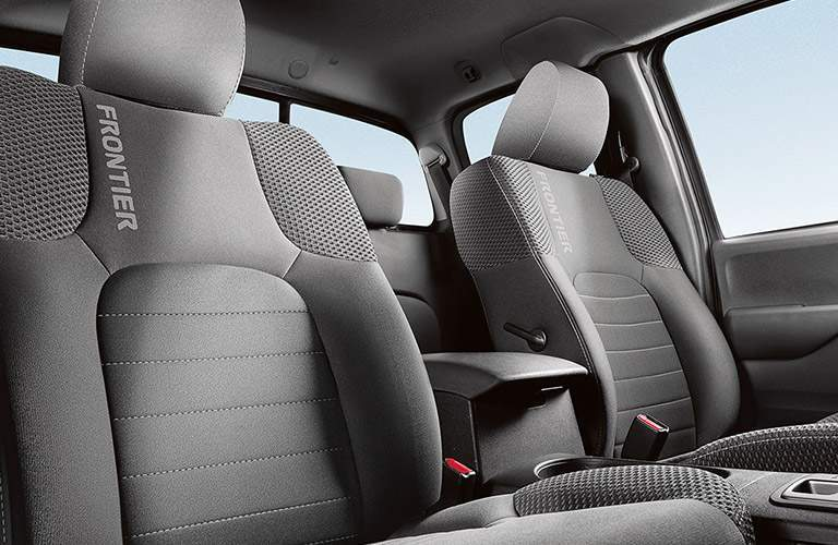 2018 Nissan Frontier Front Seats with custom seat trim and stitching