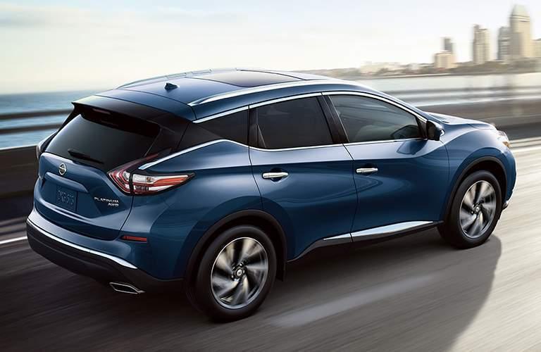 2018 Nissan Murano Side View of Blue Exterior