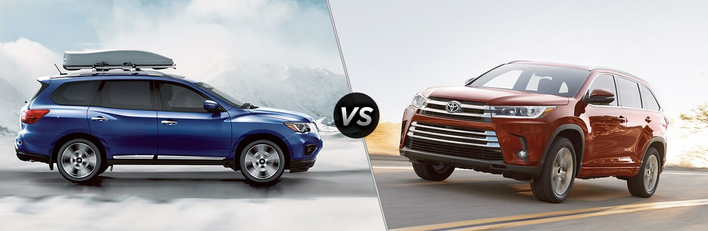 2018 Nissan Pathfinder vs Toyota Highlander